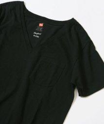 SLOBE IENA/HANES 別注USコットンVネックポケットTシャツ◆/500299472