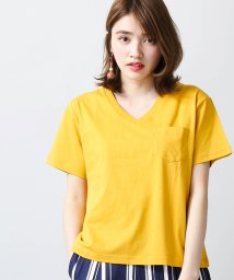 WEGO/SILKCOTTON VネックTシャツ/500111215
