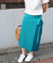 IENA/サテンカラーラップスカート◆/500302723