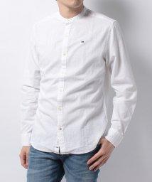 HILFIGER DENIM/Linen stand collar shirt l/s 34/500281125
