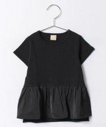petit main/前裾ぺプラムデザインTシャツ/500297745