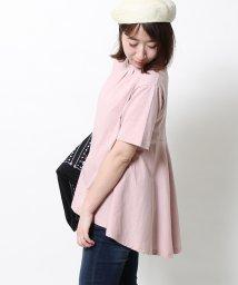 coen/USAコットンドレープヘムロングTシャツ/500135401