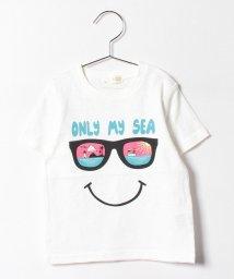 b-ROOM/サングラススマイルTシャツ/500297691