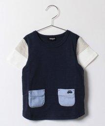 kladskap/フラップポケットに車袖切替半袖Tシャツ/500297712