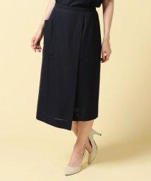 Leilian/ラップ風スカート/500300581