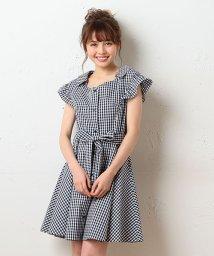 MIIA/フェミニン半袖シャツワンピース/500293960
