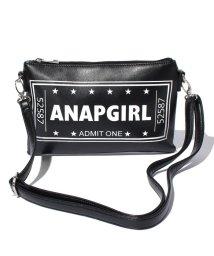 ANAP GiRL/チケットロゴスマホショルダー/500302142
