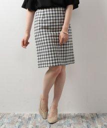NATURAL BEAUTY BASIC/からみギンガムタイトスカート/500310336