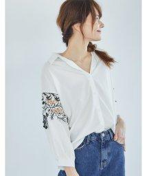 Re:EDIT/袖レース付きシャツトップス/500307186