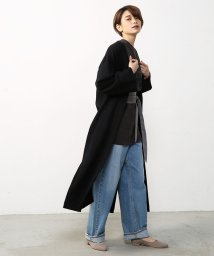 AZUL by moussy/Wフェイススリットロングカーデ/500281967