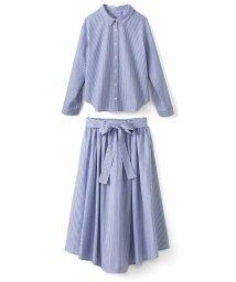 haco!/抜き衿シャツ&ふんわりスカートの総柄セットアップ/500286324