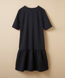 haco!/きちんと見えてお手入れ楽ちんフリルヘムのブラックドレス by que made me/500286348