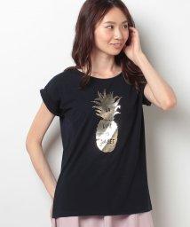 31 Sons de mode/《MALIBU NATIVE BLUEコラボアイテム》パイナップル箔プリントTシャツ/500314156