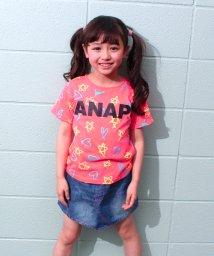 ANAP KIDS/星ハート総柄Tシャツ/500302153