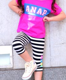 ANAP KIDS/カラフルロゴレギンス(6分丈)/500304712