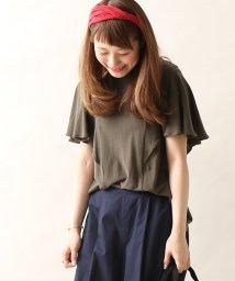 coen/強撚フレアスリーブTシャツ/500316229