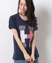 TOMMY HILFIGER WOMEN/フローラルロゴTシャツ/500305454