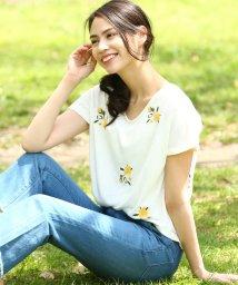 ViS/フラワー刺繍Tシャツ/500313030