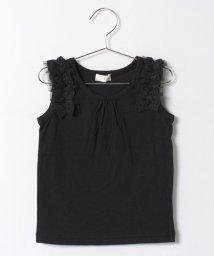 b-ROOM/フリル付ノースリーブTシャツ/500310716