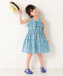 coen/【coen キッズ】フラワープリントノースリーブワンピース (120〜150cm)/500313268