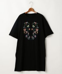 DOUBLE NAME/刺しゅうビックTシャツワンピース/500318775