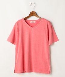 DOUBLE NAME/VネックTシャツ(無地/ペイント)/500318780
