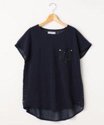 framesRayCassin/星柄プリント切り替えTシャツ/500318821