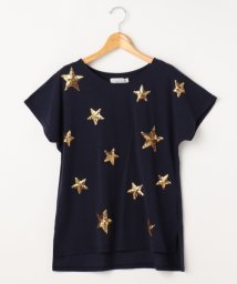 framesRayCassin/星スパンコール刺繍Tシャツ/500318822