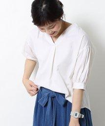 coen/【新色追加】コットンピケパフスリーブブラウス/500320181