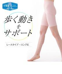 LECIEN/中臀筋アシストボトム・綿混レースタイプ・ロング丈/500300425
