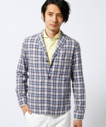 MONSIEUR NICOLE/綿麻チェックシャツジャケット/500320653