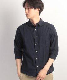 JNSJNM/【FORT POINT】7分袖綿麻ストレッチシャツ/500302504