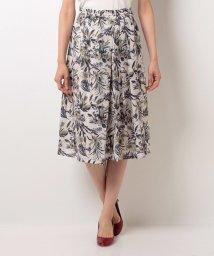 B donna/ジャガードリーフプリントスカート/500305291