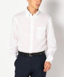SHIPS MEN/SD: 【ALBINI社製生地】 リネン ソリッド ボタンダウンシャツ/500323927