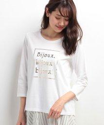 Leilian/タイポグラフィTシャツ/500300576