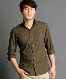 NICOLE CLUB FOR MEN/7分袖イタリアンカラーシャツ/500310387