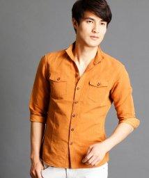 NICOLE CLUB FOR MEN/7分袖ショートスタンドカラーシャツ/500310388