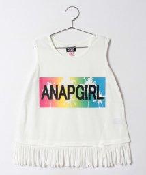 ANAP GiRL/ロゴグラデプリントフリンジトップス/500319679