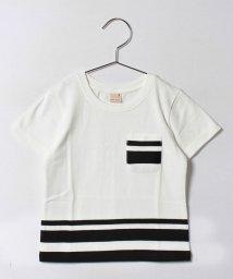 petit main/ライン入り胸ポケットつきTシャツ/500320339
