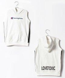 Lovetoxic/Championコラボノースリーブパーカー/500320359