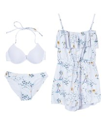 SEA DRESS/花柄サロペット付ビキニ/水着3点セット/500326818