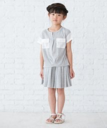 3can4on(Kids)/ワッフルキュロットパンツ/500331133