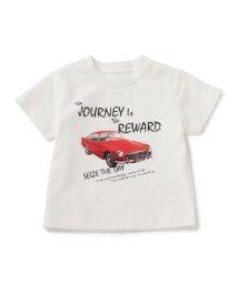 green label relaxing (Kids)/【BABY】オーガニックコットン カープリント Tシャツ ショートスリーブ/500191628