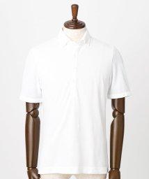 NICOLE CLUB FOR MEN/市松柄ボタンダウンポロシャツ/500320691