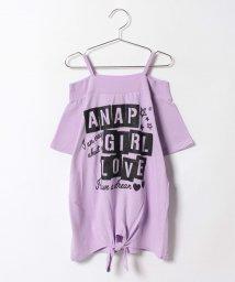 ANAP GiRL/BOXロゴオフショルトップス/500325094