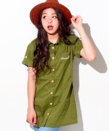 ANAP GiRL/ロゴ刺繍入りシャツ/500325097