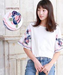 Bou Jeloud/花柄刺繍 ボリュームスリーブTシャツ/500332531