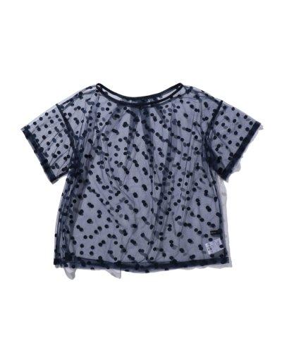 【XXXXXX(使用しないショップ)】(ROSE BUD)ドット柄シアーTシャツ