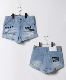 ANAP GiRL/ポケット星ロゴメッセージデニムショートパンツ/500327029