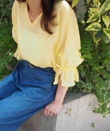 STRAWBERRY FIELDS/【WEB限定】DVエアリネン キャンディースリーブブラウス/500336836